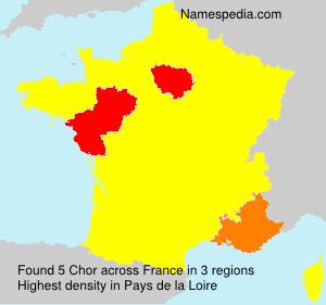 Surname Chor in France