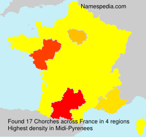 Surname Chorches in France