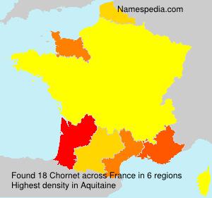 Surname Chornet in France