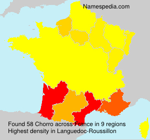 Surname Chorro in France