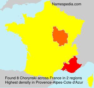 Surname Chorynski in France