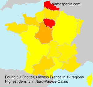 Familiennamen Chotteau - France