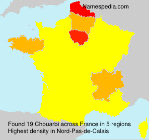 Surname Chouarbi in France
