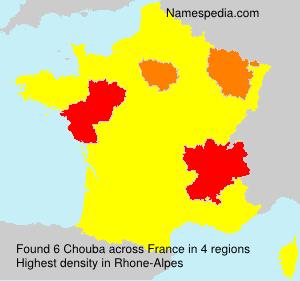 Surname Chouba in France