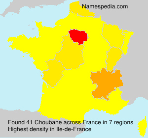 Surname Choubane in France