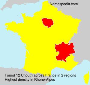 Familiennamen Choutri - France