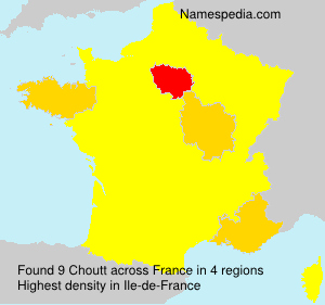 Surname Choutt in France