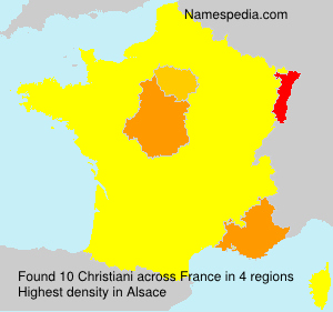 Surname Christiani in France