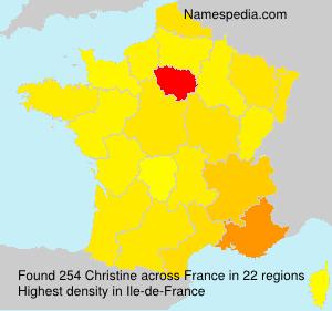 Familiennamen Christine - France