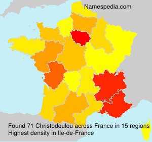 Surname Christodoulou in France