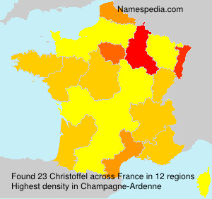 Surname Christoffel in France