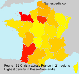 Surname Christy in France