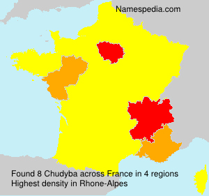 Surname Chudyba in France