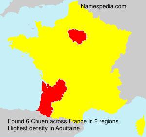 Surname Chuen in France