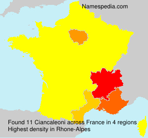 Surname Ciancaleoni in France