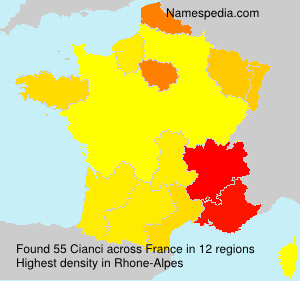 Surname Cianci in France