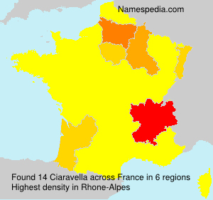 Surname Ciaravella in France