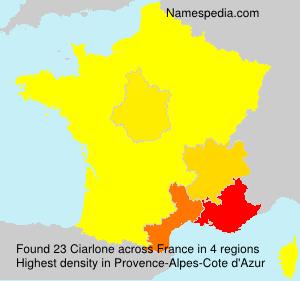 Familiennamen Ciarlone - France