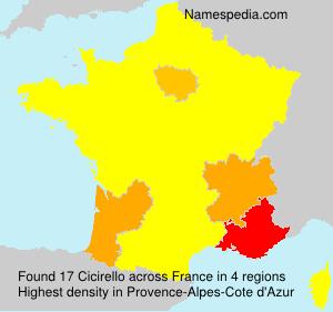 Surname Cicirello in France
