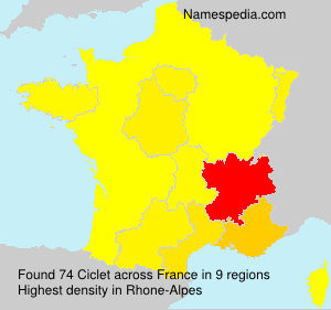 Surname Ciclet in France