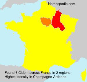 Familiennamen Cidem - France