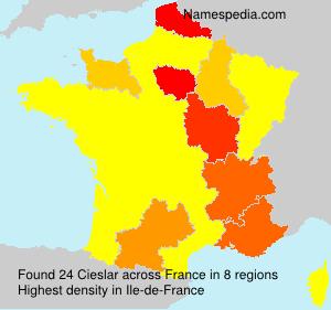Surname Cieslar in France