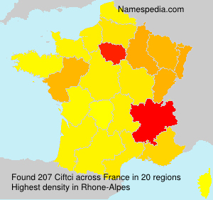 Surname Ciftci in France