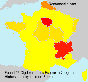 Surname Cigdem in France