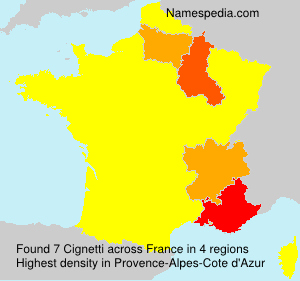 Surname Cignetti in France