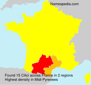 Surname Cilici in France