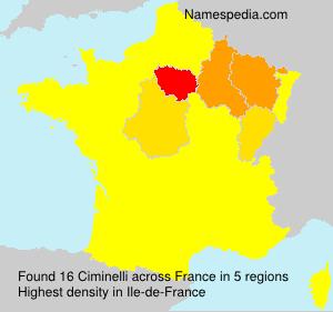 Surname Ciminelli in France