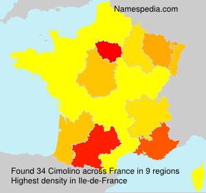 Surname Cimolino in France