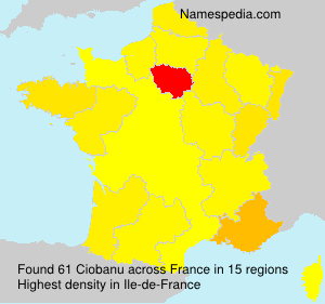 Surname Ciobanu in France