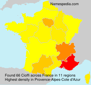 Surname Cioffi in France