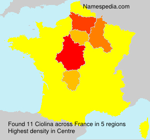 Surname Ciolina in France
