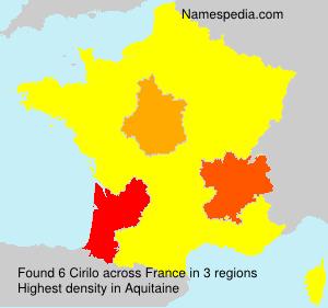 Surname Cirilo in France