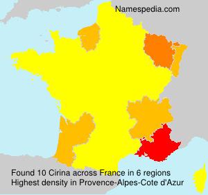 Surname Cirina in France