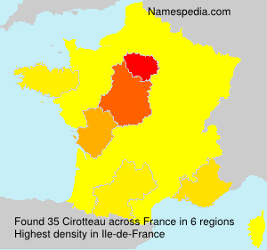 Surname Cirotteau in France