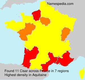 Surname Cisar in France