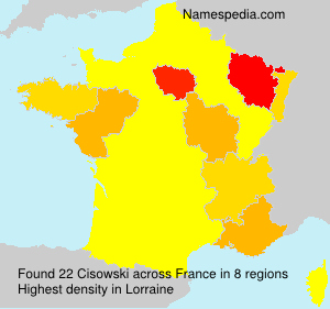 Surname Cisowski in France