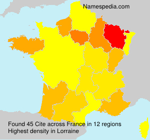 Surname Cite in France