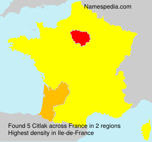 Surname Citlak in France