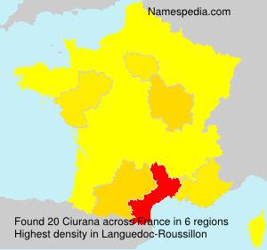 Surname Ciurana in France