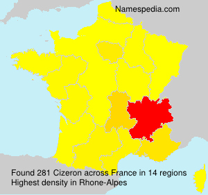 Surname Cizeron in France