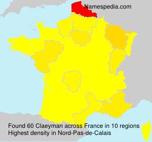 Surname Claeyman in France