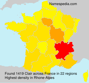 Surname Clair in France