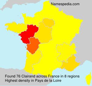 Familiennamen Clairand - France