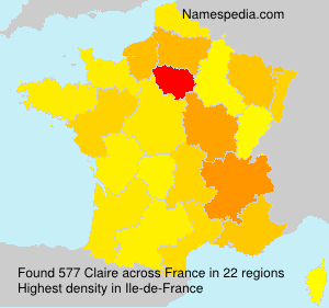 Surname Claire in France