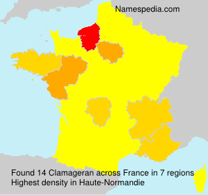 Surname Clamageran in France