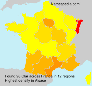 Surname Clar in France